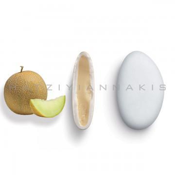 Κουφέτα λευκής σοκολάτας Χατζηγιαννάκη Bijoux με γεύση πεπόνι