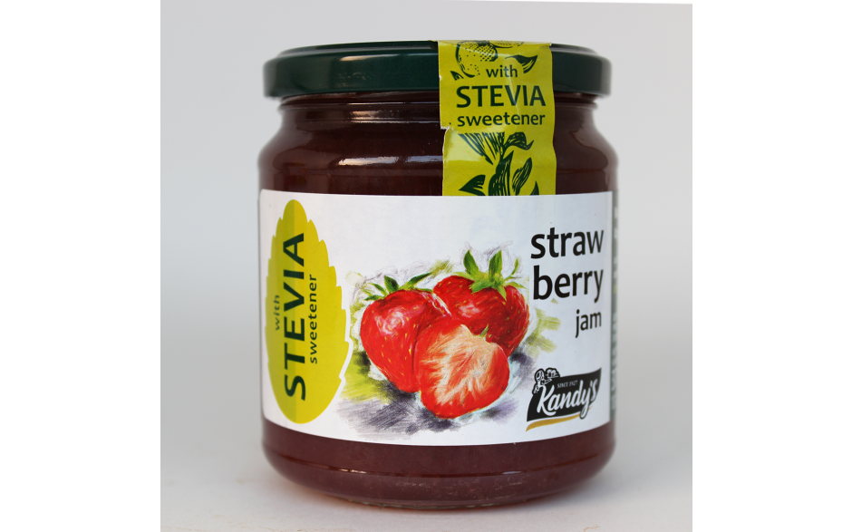 Μαρμελάδα φράουλα χωρίς ζάχαρη με στέβια
